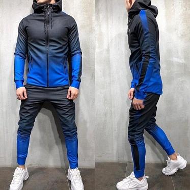 спортивный костюм переход-синий